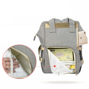 lovebabymammy.com Mummy Maternity Nappy Bag Waterproof Diaper Bag With USB Stroller Travel Backpack for Mom Multi-pocket Nursing Bag for Baby Care