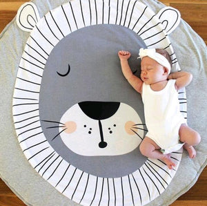 lovebabymammy.com Cartoon Animals Baby Play Mats Pad Toddler Kids Crawling Blanket Round Carpet Rug Toys Mat For Children Room Decor Photo Props