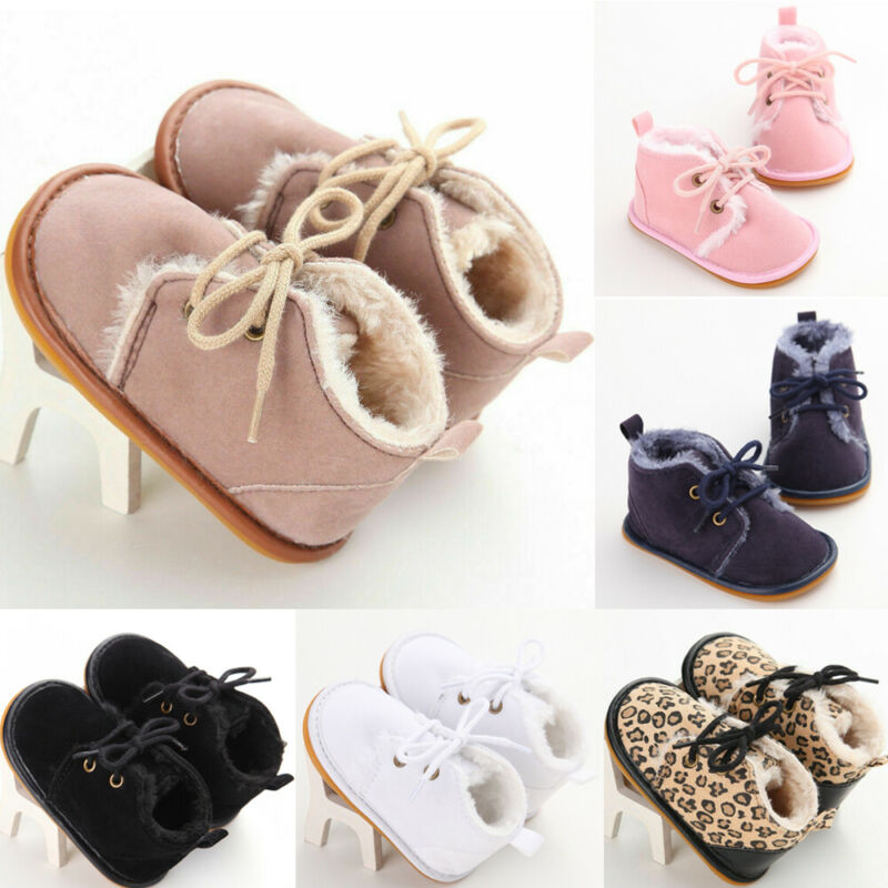 lovebabymammy.com Pudcoco Toddler Baby Girl Shoes Soft Crib Sole Shoes Newborn Kid Babe Autumn Winter Snow Boot