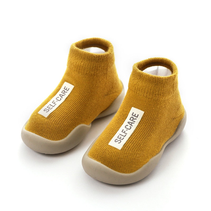lovebabymammy.com Unisex Baby Shoes First Shoes Baby Walkers Toddler First Walker Baby Girl Kids Soft Rubber Sole Baby Shoe Knit Booties Anti-slip