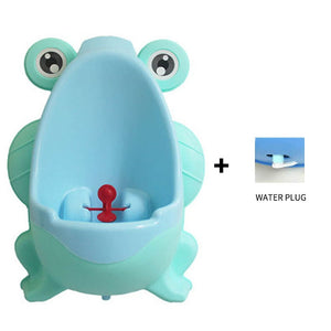 lovebabymammy.com New Arrival Baby Boy Potty Toilet Training Frog Children Stand Vertical Urinal Boys Penico Pee Infant Toddler Wall-Mounted