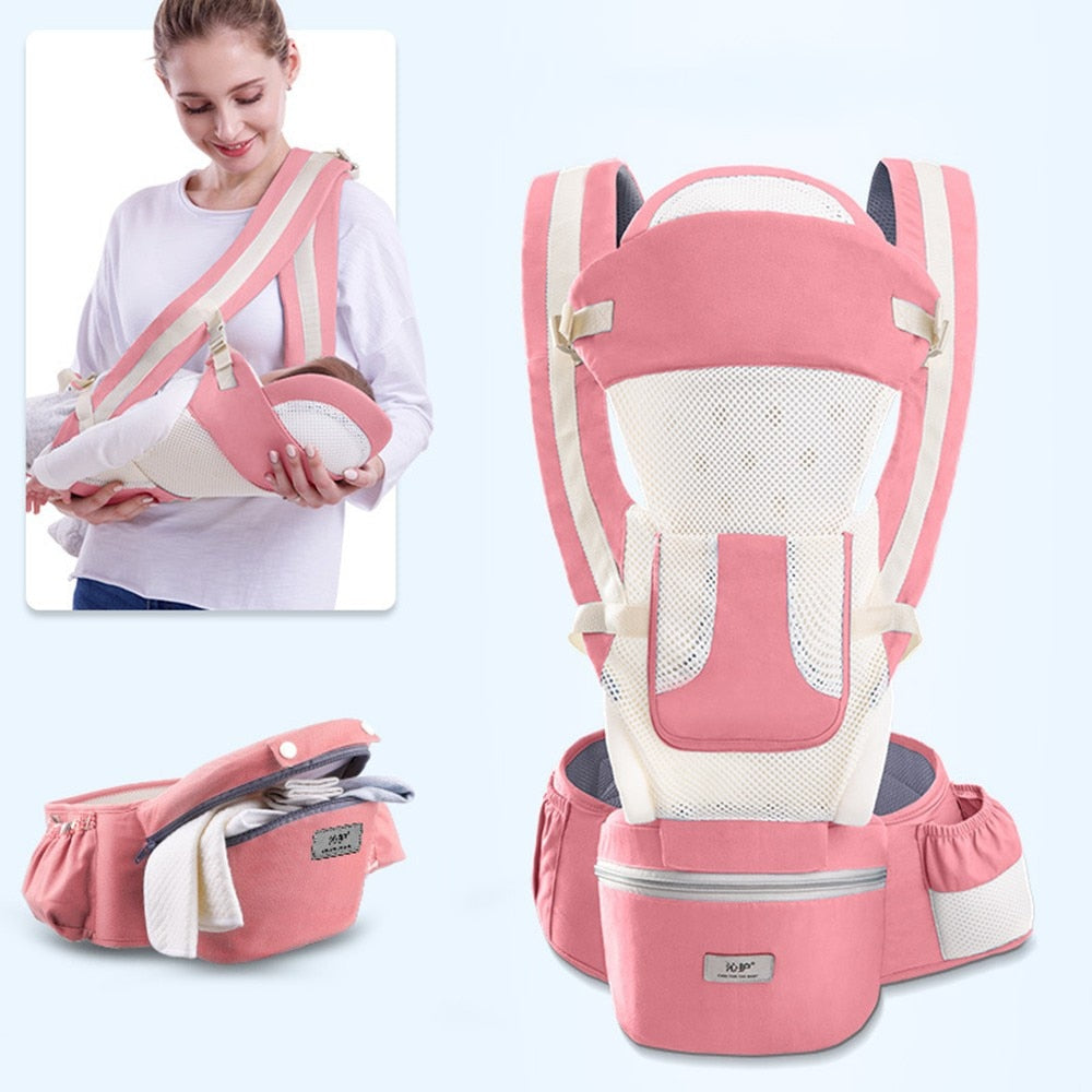 lovebabymammy.com New 0-48 Month Ergonomic Baby Carrier Infant Baby Hipseat Carrier 3 In 1 Front Facing Ergonomic Kangaroo Baby Wrap Sling