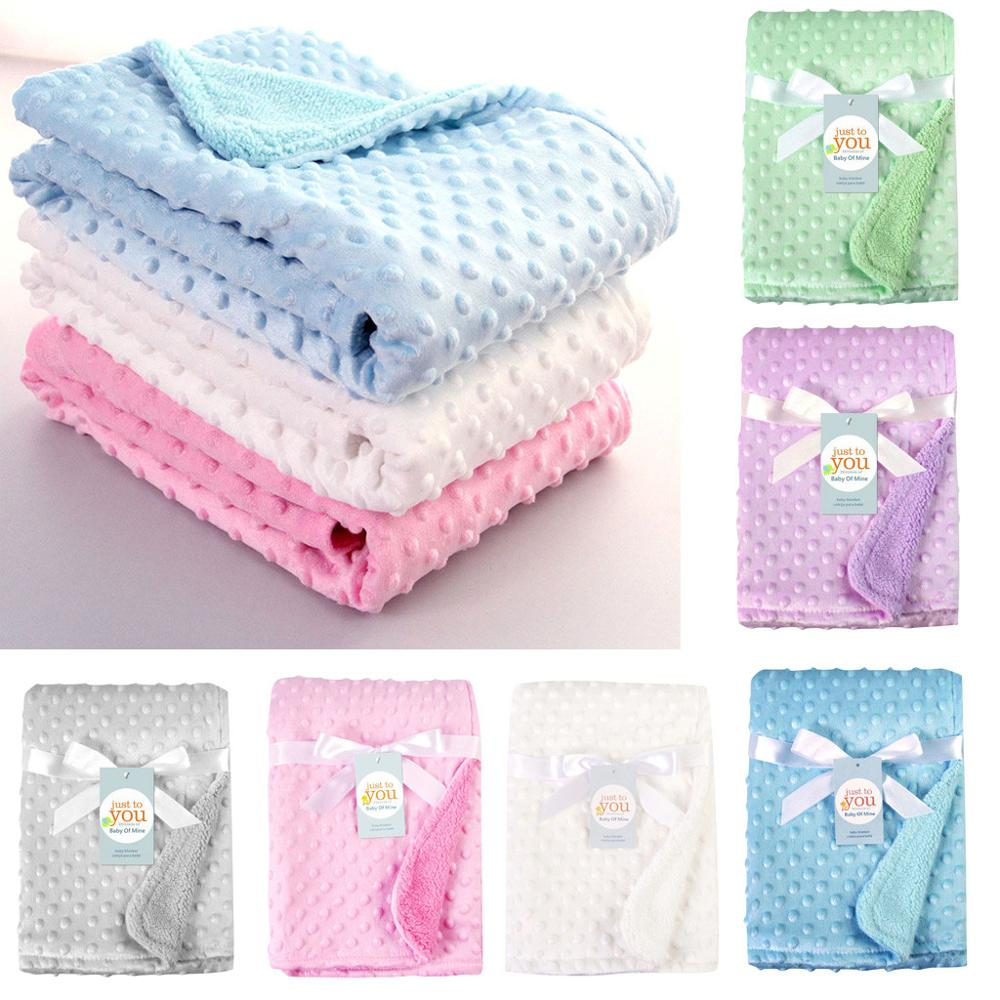 lovebabymammy.com Newborn Baby Blankets Warm Fleece Thermal Soft Stroller Sleep Cover Cartoon Beanie Infant Bedding Swaddle Wrap Kids Bath Towel
