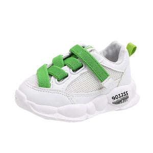 lovebabymammy.com Kids Leisure Sneakers Children's white shoes boys and girls Velcro sports shoes new mesh casual baby Toddler shoes