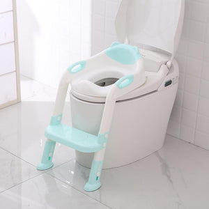 lovebabymammy.com Folding Baby Potty Infant Kids Toilet Training Seat with Adjustable Ladder Portable Urinal Potty Training Seats for Children