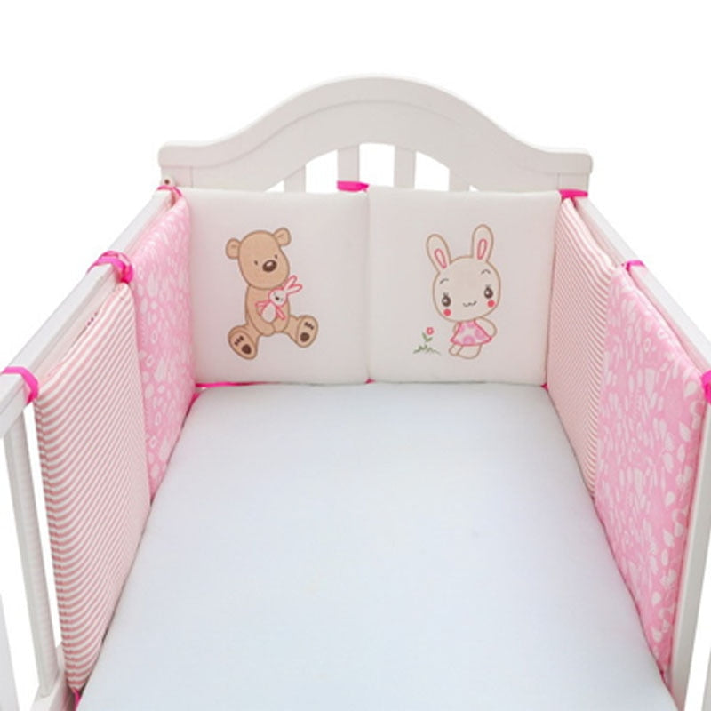 lovebabymammy.com Baby Bed Crib Bumper Thick Pillow One-piece Crib Around Cushion Cot Protector Pillows Newborns Room Decor