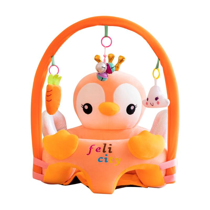 lovebabymammy.com Sofa Set Support Seat Cover Baby Plush Chair Cartoon Learning Sit Plush Chair Toddler Nest Puff Washable With Rod & Toys No Fill