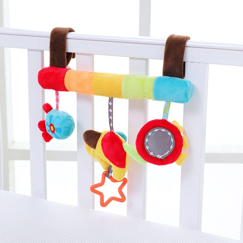 lovebabymammy.com Soft Infant Crib Bed Stroller Toy Spiral Baby Toy For Newborns Car Seat Educational Rattles Baby Towel baby Toys 0-12 months