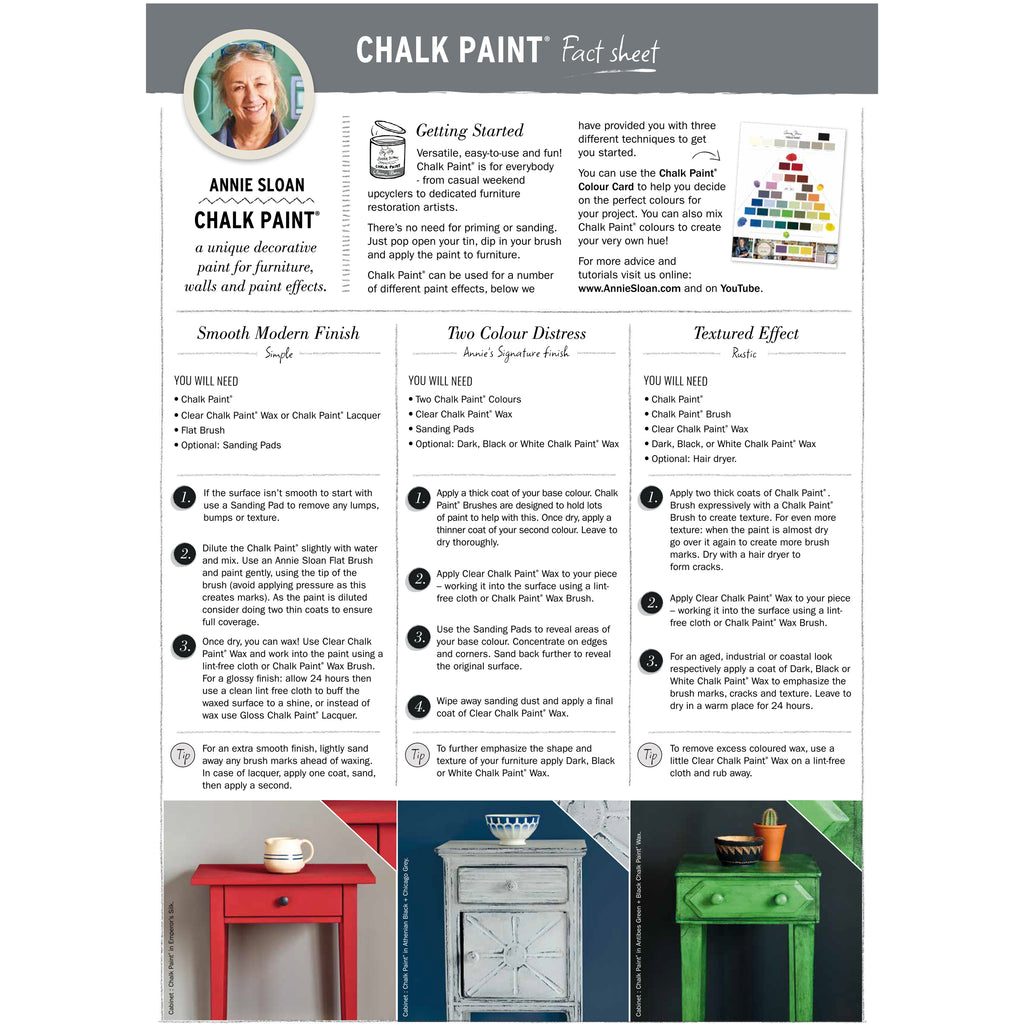 Fact sheet - how to finish with Annie Sloan Chalk Paint