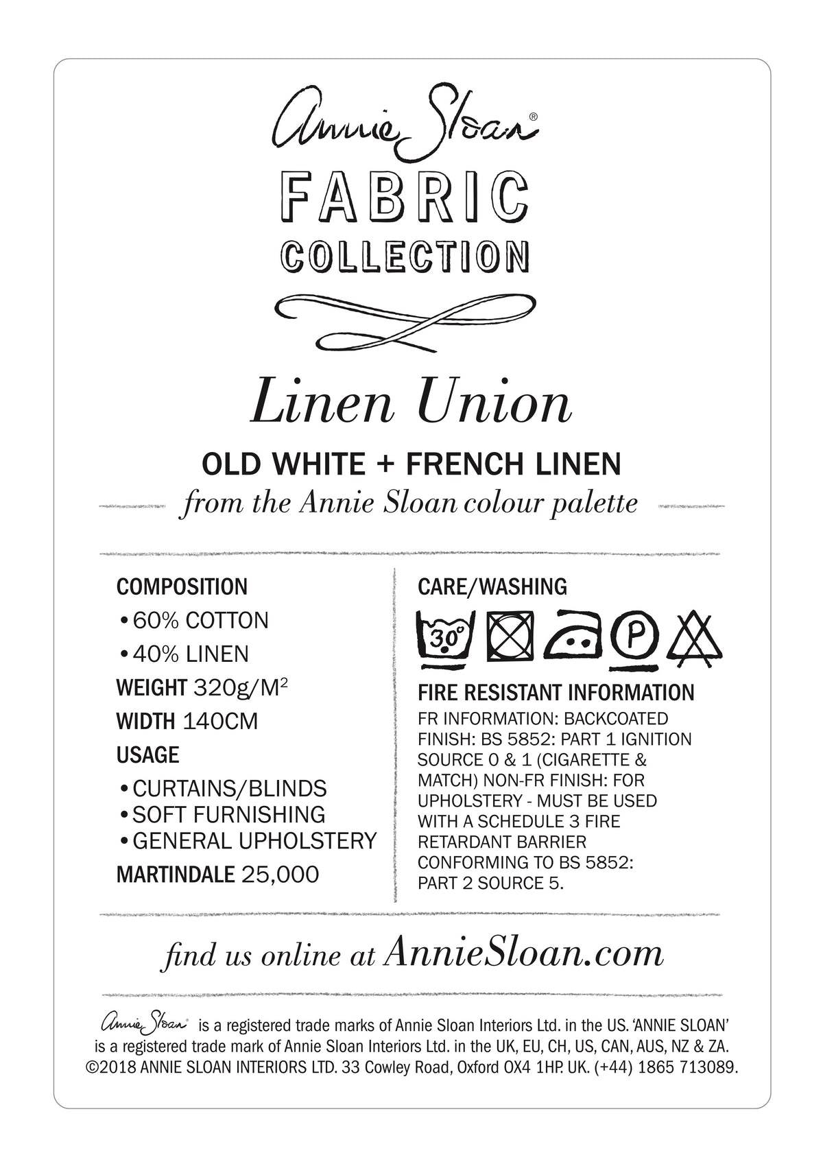 Linen Union in Old White + French Linen