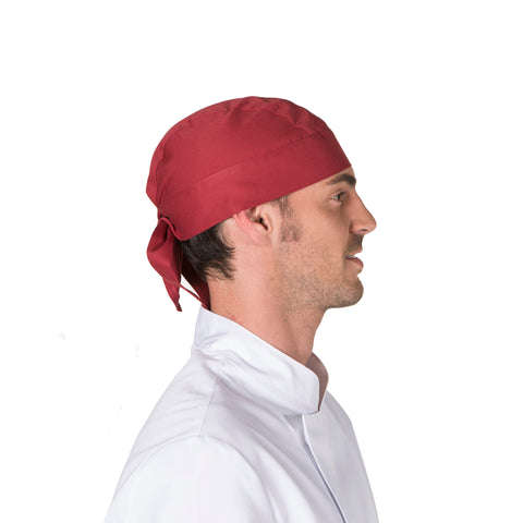 Gorro Pirata Para Chef O Cocinero Unisex Color Burdeos