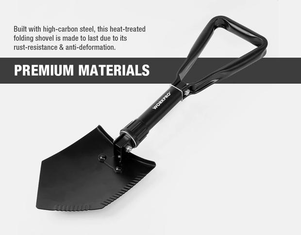 WORKPRO Tactical Folding Shovel - HighTecSurvive