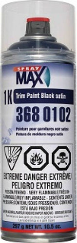 Spraymax 1K Trim Paint Satin Black