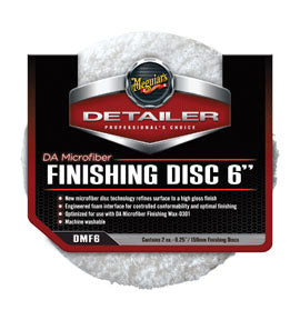 "6"" DA Microfiber Finish Disc 2PK"