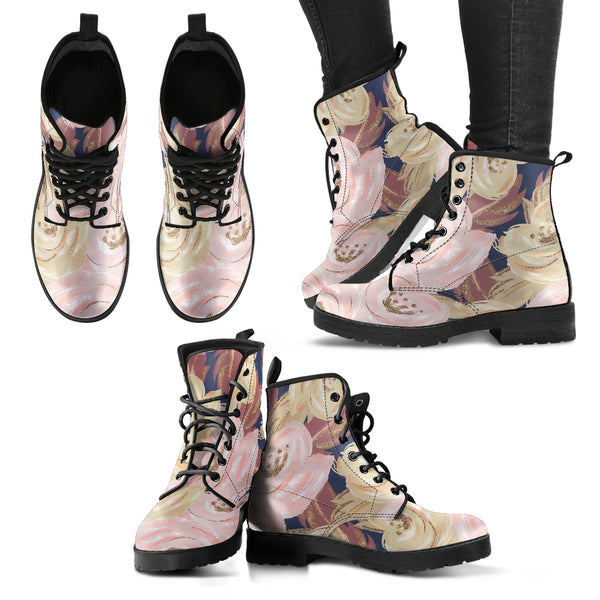Autumn Fall Large Bloom - Leather Boots for Women