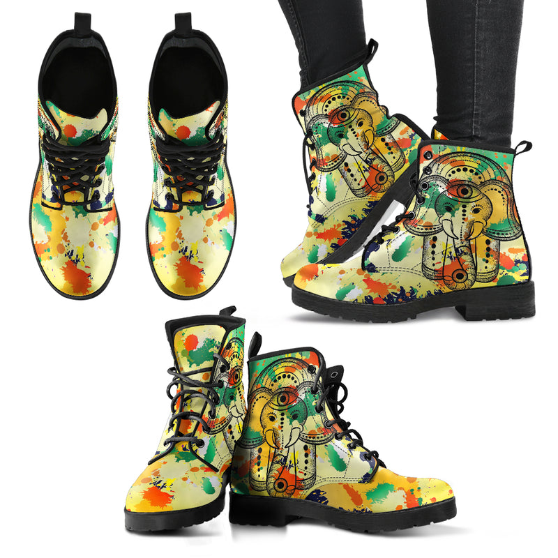 Hamsa Elephant Handcrafted Boots