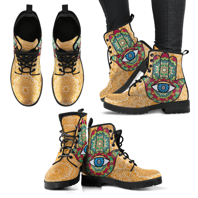 Hamsa Hand Handcrafted Boots