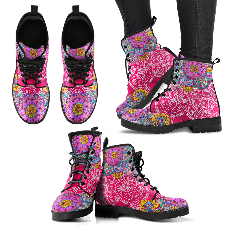 Henna Flower V3 Handcrafted Boots
