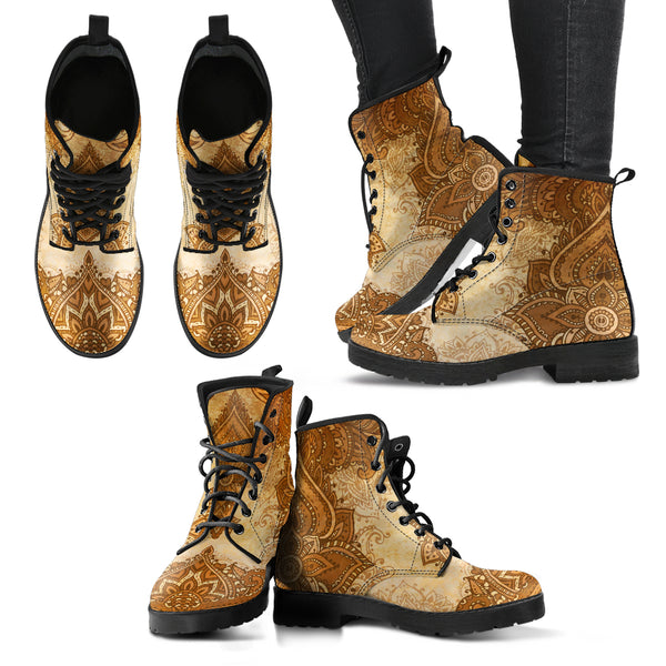 Henna Design 2 Handcrafted Boots