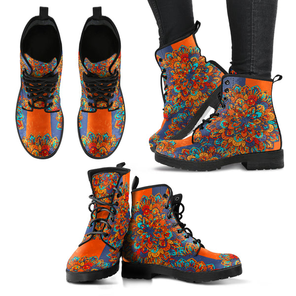 Flower Mandala Handcrafted Boots