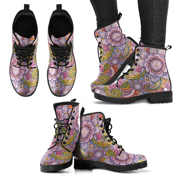 Floral Mandala 2 Handcrafted Boots