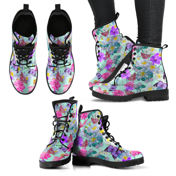 HandCrafted Colorful Lotus Butterfly Boots