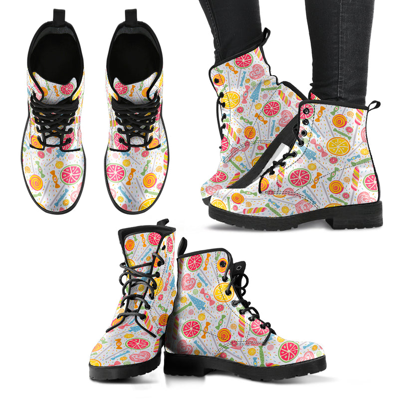 Candy Womens Faux Leather Boots