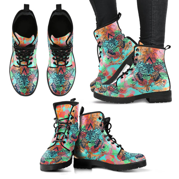 HandCrafted Colorful Butterfly Boots