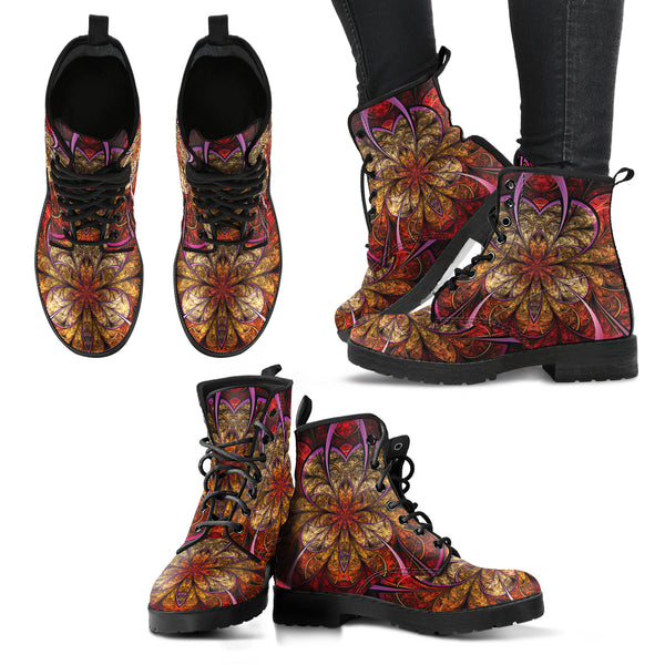 Fractal Flower 2 Handcrafted Boots