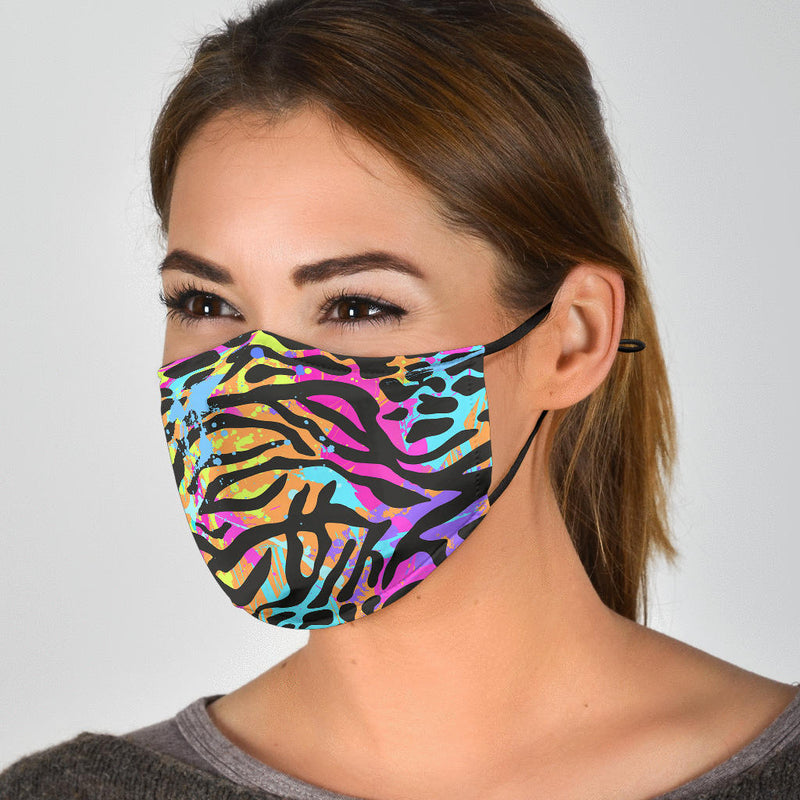 Painted Zebra Face Mask