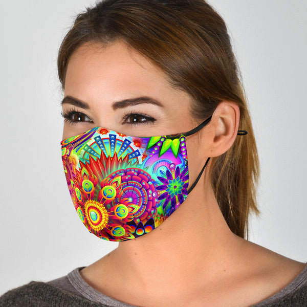 Abstract Bright Floral - Face Mask