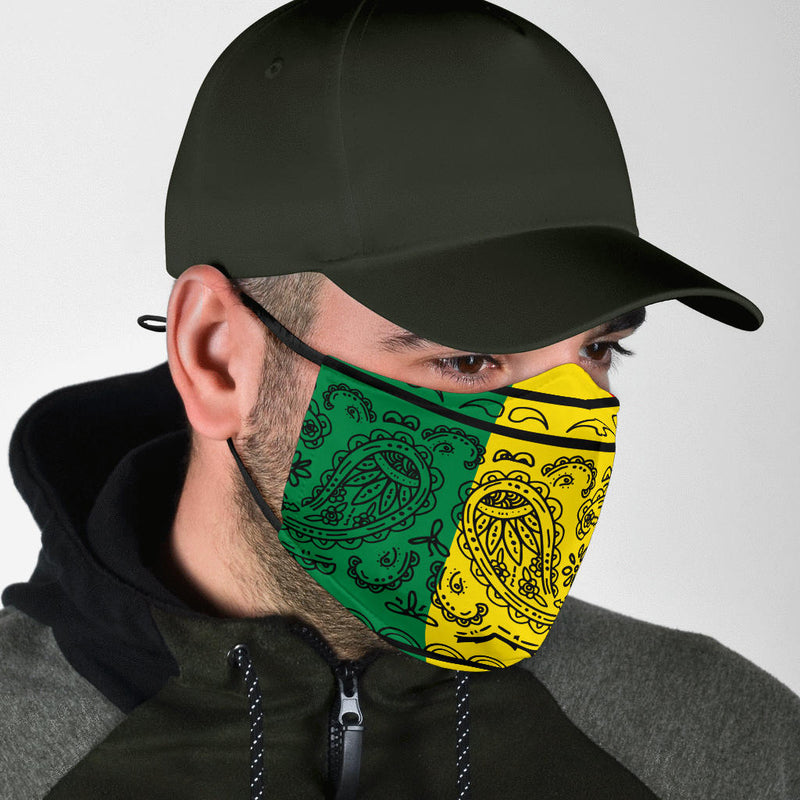 Edge Rasta with Black Bandana Face Mask