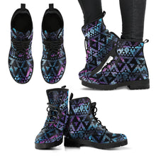 Load image into Gallery viewer, Geometric Nebula Leather Boots