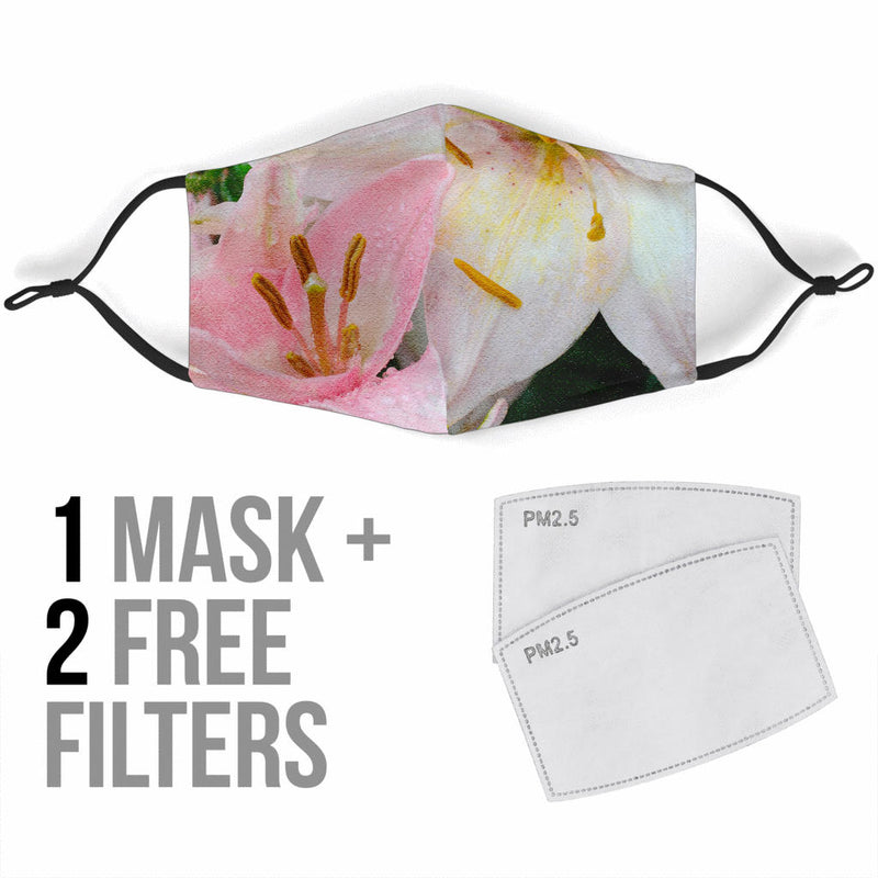 Pretty Lily Flower Face Mask