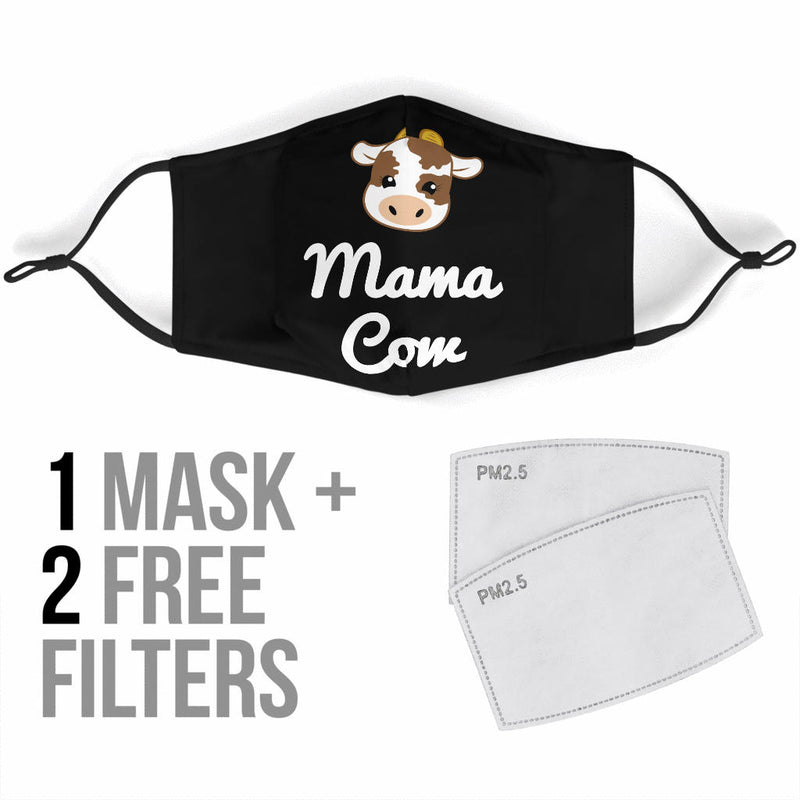 Mama Cow Mother Face Mask