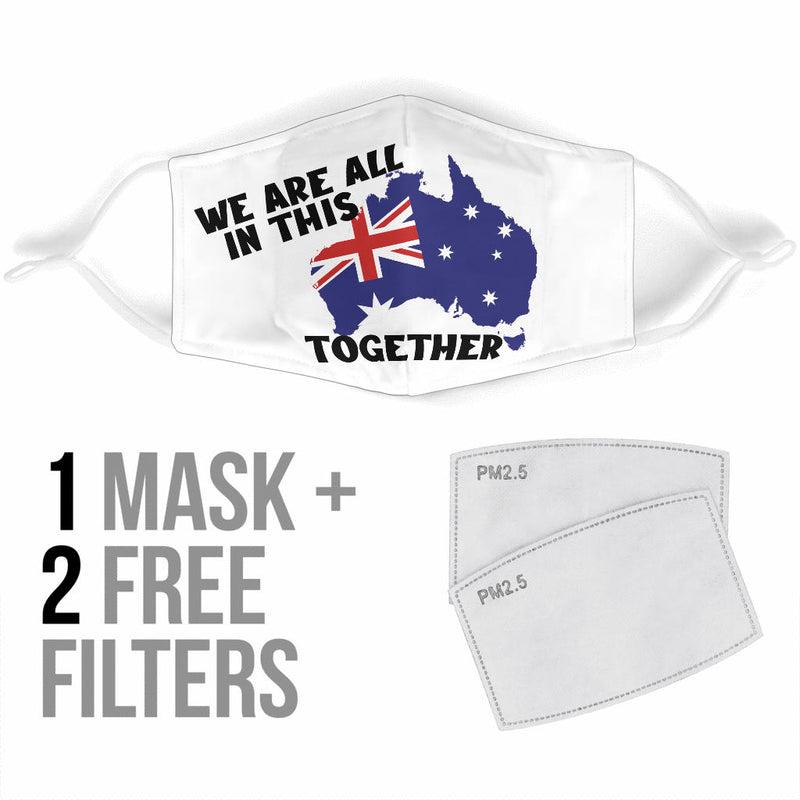 Face Mask Australia All In This Together