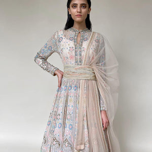 Load image into Gallery viewer, Shadow Work Embellished Floor Length Anarkali