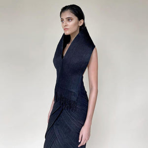 Exaggerated Collar Cocktail Dress.