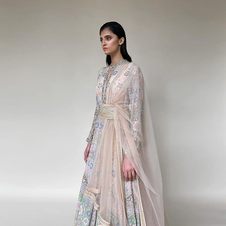 Shadow Work Embellished Floor Length Anarkali - abhishekstudio