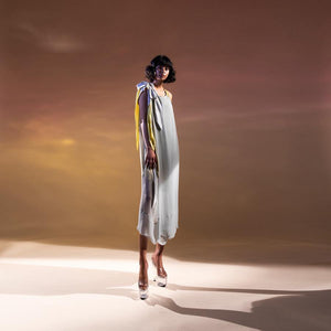 Draped long tunic. abhishek sharma, abhishekstudio.