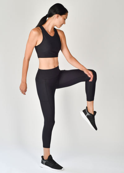 Sustainable activewear Good Days Leggings Core Pocket Black