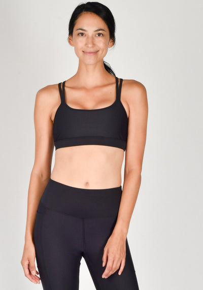 Sustainable activewear Good Days Sports Bra Motion Black