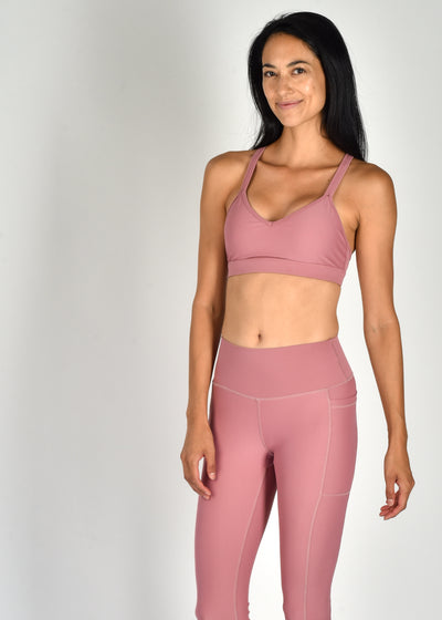 Sustainable activewear Good Days Flow Sports Bra Burnt Rose