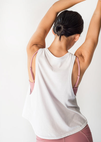 Sustainable activewear Good Days Flex Tank Top White