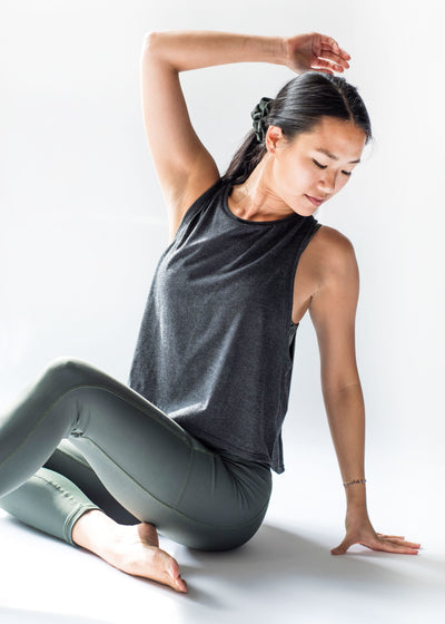 Sustainable activewear Good Days Flex Tank Top Charcoal