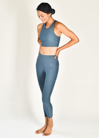 Sustainable activewear Good Days Leggings Core Pocket Sea Blue