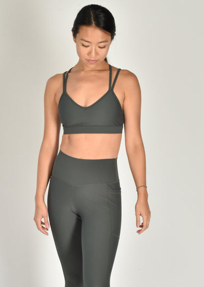 Sustainable activewear Good Days Flow Sports Bra Dark Olive