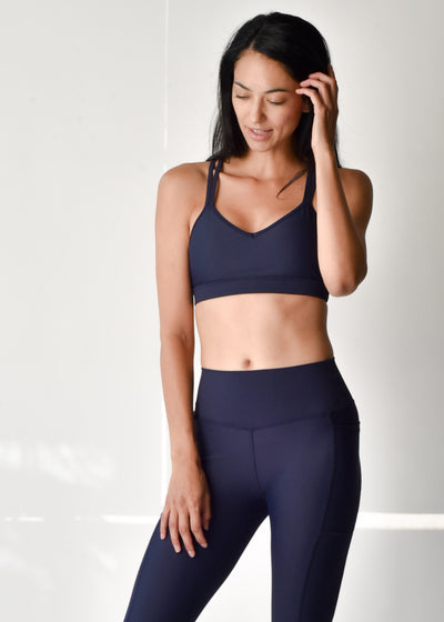 Sustainable activewear Good Days Flow Sports Bra Deep Navy