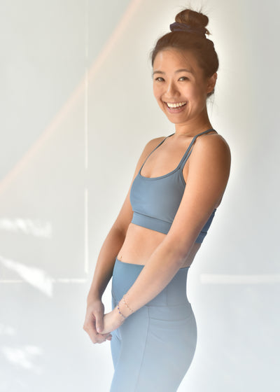 Sustainable activewear Good Days Sports Bra Motion Sea Blue