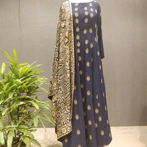 Navy Blue Georgette Anarkali